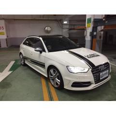 超帥賽車型高級貼紙/ 汽車全車拉花 / BMW / AUDI / 福斯 / 保時捷 / mazda / 福特【B0885】(黑色)