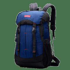 韓版-帽蓋街頭-腰身雙扣後背包 / 筆電包【B1381】(深藍色)