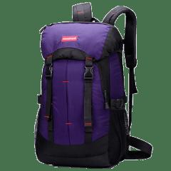 韓版-帽蓋街頭-腰身雙扣後背包 / 筆電包【B1381】(紫色)