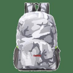 多色時尚收納輕便 防水後背包 / 購物袋 / 收納包 / 環保袋【B1501】(灰迷彩)