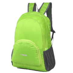 多色時尚收納輕便 防水後背包 / 購物袋 / 收納包 / 環保袋【B1501】(淺綠色)