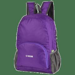 多色時尚收納輕便 防水後背包 / 購物袋 / 收納包 / 環保袋【B1501】(紫色)
