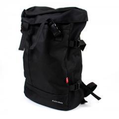 人氣街頭‧上蓋反扣運動後背包 / 輕量化後背包 / 潮流後背包【B1680】(黑色)