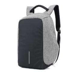 防盜包-時尚反光條大人氣韓國後背包 【B1719】(灰色)