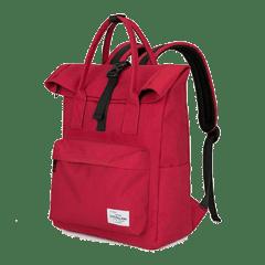 潮流單扣翻摺休閒後背包 / 電腦包 / 15.6吋電腦包 / 大容量後背包【B1780】(紅色)