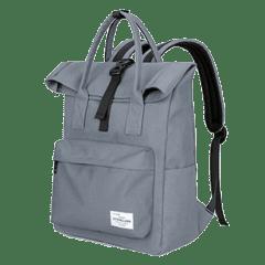 潮流單扣翻摺休閒後背包 / 電腦包 / 15.6吋電腦包 / 大容量後背包【B1780】(淺灰色)