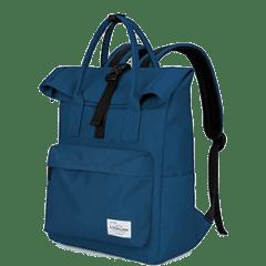 潮流單扣翻摺休閒後背包 / 電腦包 / 15.6吋電腦包 / 大容量後背包【B1780】(深藍色)