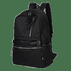 ★ 三料配皮質感時尚後背包 / 迷彩後背包 /14吋筆電包【B2188】(黑色)