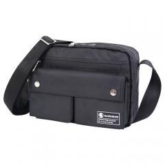 黑葡萄消光黑雙口袋 防水側背包 / 防水包 / 吉田風【B01】(黑色)