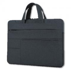 時尚造型-手提輕薄電腦公事包/電腦套/電腦防護包【182】(黑色)
