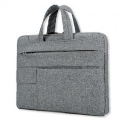 時尚造型-手提輕薄電腦公事包/電腦套【B182】(深灰色)