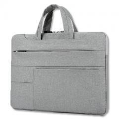 時尚造型-手提輕薄電腦公事包/15.6吋筆電包【B182】(淺灰色)