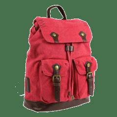 LECAF品牌經典車線造型-厚磅 帆布後背包 【C2016】(紅色)