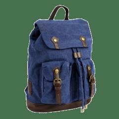 LECAF品牌經典車線造型-厚磅 帆布後背包 【C2016】(深藍色)