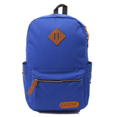 LECAF時尚金鏈-多袋豬鼻後背包【C3007】(寶藍色)