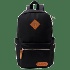 LECAF時尚金鏈-多袋豬鼻後背包【C3007】(黑色)