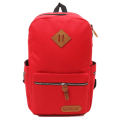 LECAF時尚金鏈-多袋豬鼻後背包【C3007】(紅色)