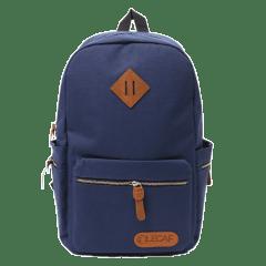 LECAF時尚金鏈-多袋豬鼻後背包【C3007】(深藍色)