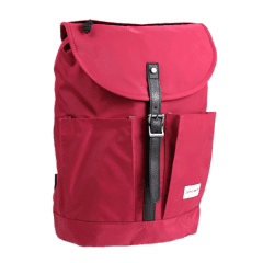 日系普普風-質感系列-尼龍翻蓋後背包 【L0117】(紅色)