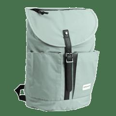 日系普普風-質感系列-尼龍翻蓋後背包 【L0117】(綠色)