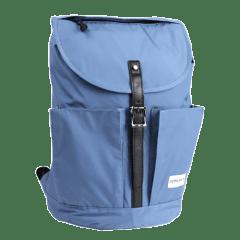 日系普普風-質感系列-尼龍翻蓋後背包 【L0117】(水藍色)