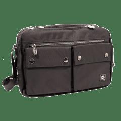 吉田風(大款)雙口袋側背包 / A4版【S1369】(灰色)