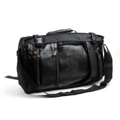 潮流背包客圖騰‧四用後背包/ 三用包 / 皮革後背包【S2020】黑色