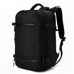 時尚多功能商務旅行包/ 17吋電腦包 /大容量後背包/ 筆電背包【B7983】(黑色)