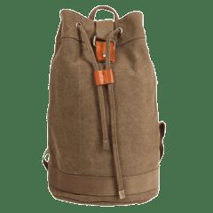 高磅數-束口水洗帆布拳擊後背包  【L80225】(咖啡色)