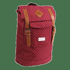 韓風-點點 雙扣束口 潮流後背包 【L0097】(紅色)