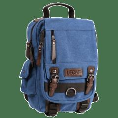 韓風-水洗多袋高磅 帆布三用背包【C2001】(天藍色)