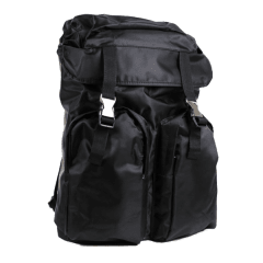 韓國時裝版‧尼龍防水料拳擊綁帶後背包 【L8229】(黑色)