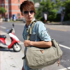 韓系洗水布造型後背包【L2122】(淺綠色)