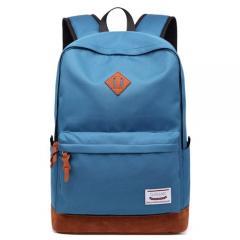 經典配色豬鼻後背包 / 15.6吋電腦包 / USB充電孔【C3019】(天藍色)