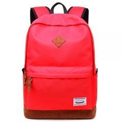 經典配色豬鼻後背包 /筆電包 / 電腦包【C3019】(紅色)