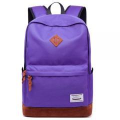 經典配色豬鼻後背包 / 電腦包 / USB充電孔【C3019】(紫色)