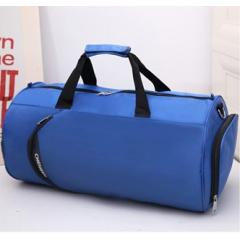 輕便圓筒尼龍旅行包 / 圓筒斜背包 /旅行袋 / 運動背包【B677】(寶藍色)