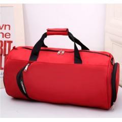 輕便圓筒尼龍旅行包 / 圓筒斜背包 /旅行袋 / 運動背包【B677】(紅色)
