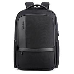 商務洽公時尚城市電腦後背包 /17吋筆電包【B00020】黑色-賣場