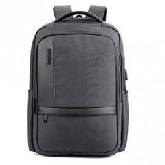 商務洽公時尚城市電腦後背包 /17吋筆電包【B00020】灰色-賣場