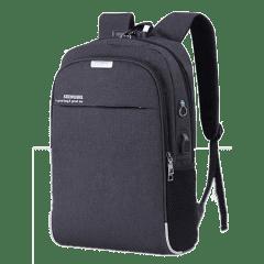 韓系雙主袋腰身設計/USB充電孔-防盜後背包 /15.6吋筆電包【B1802】(黑色)