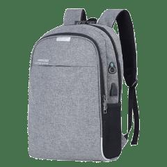 韓系雙主袋腰身設計/USB充電孔-防盜後背包 /15.6吋筆電包【B1802】(灰色)