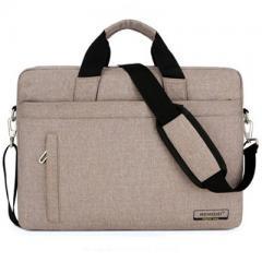 韓系時尚磨砂料電腦斜背包/15.6吋電腦包/及14吋電腦背包 【B181】(咖啡色)
