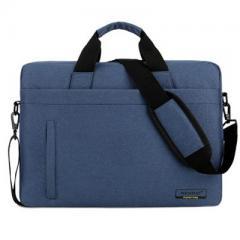 韓系時尚磨砂料電腦斜背包/15.6吋電腦包/及14吋電腦背包 【B181】(藍色)