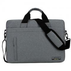韓系時尚磨砂料電腦斜背包/15.6吋電腦包/及14吋電腦背包 【B181】(深灰色)