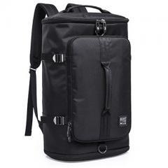 大容量商旅圓筒旅行背包/ 17吋電腦後背包【B2202】(黑色)