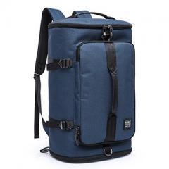大容量商旅圓筒旅行背包/ 17吋電腦後背包【B2202】(深藍色)