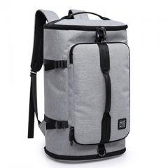 大容量商旅圓筒旅行背包/ 17吋電腦後背包【B2202】(灰色)