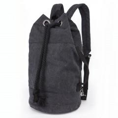 野戰個性拳擊洗水帆布後背包 / 拳擊包【B7142】黑色-BLACK (賣場)