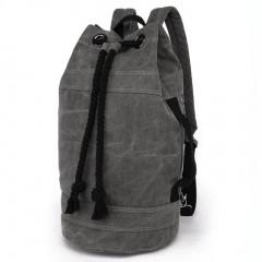 野戰個性拳擊洗水帆布後背包 / 拳擊包【B7142】深灰色 (賣場)
